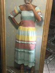 Vestido de tricô Longo NOVO