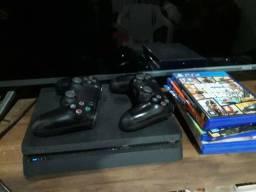 Ps4 + 2 controles + 8 jogos