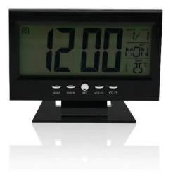 Relógio Despertador De Mesa Digital Luz Calendário Temperatura - 8082