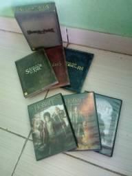 O Senhor dos Anéis versão estendida e O Hobbit versão de cinema