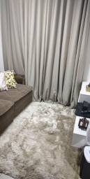 Cortina Blackout Tecido bege  ( 2 cortinas p 2 ambientes)