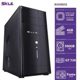 Computador Gamer - I3-9100f 3.6ghz 4gb Ddr4 Hd 500gb Gt 730 1gb Fonte 500w