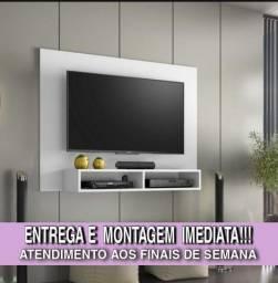 Rack para TV cor branca apenas 250 Cuiabá entrega instalação e suporte de brinde