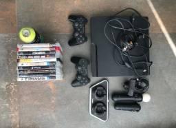 Playstation 3 + Controles E 14 Jogos