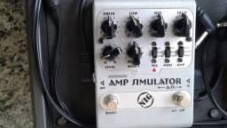 Pedal de Distorção Nig AS1 Simulador de Amplificadores