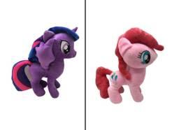 My Litle Pony Ponei Pelúcia 30cm Rosa e Lilás