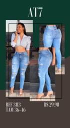 Calça jeans feminina com elastano