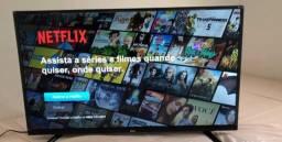 Tv smart 40 Full HD tem pezinho controle original, pego tv com volta pra mim