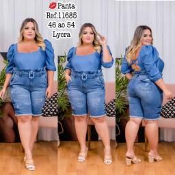 Moda plus size em rio branco roupas gg short plus size jeans lycra macaquinho macacão