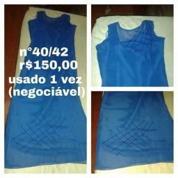 Vestido social longo, seminovo,tamanho 40/42,r$150,00(valor negociável)