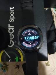 Smartwatch Samsung Gear Sport Pulseira Silicone Preto