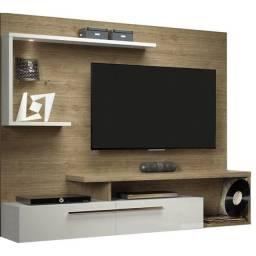 Painel Home Para TV Floripa Linea Brasil - Bege Claro
