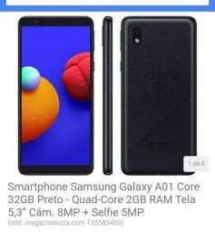 Telefone samsung Galaxy A01 core novo com a caixa e garantia.