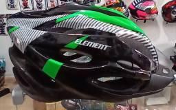 Capacete Bike Element com luz de sinalização