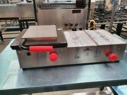 Molheira prensa 2 cubas de vidro a gás PR352g