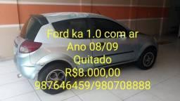 Ford ka 1.0 quitado troco por moto