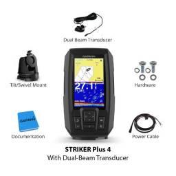 Sonar de pesca com gps Garmin Striker 4 plus fischfinder cardume transducer tela 4.3