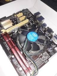 Vendo placa mãe Asus h81m,processador I3,Memória8gb e placa de video gt1030