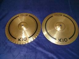 """Chimbal Hi-hat 14"""" Orion X10 usado"""