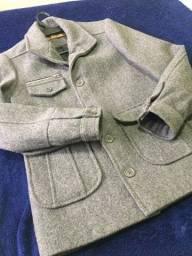 Casaco de Lã Masculino Cinza