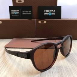 Óculos de sol Oakley Latch matte brown polarizado
