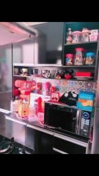 Cozinha Suíça  armário 4 peças preto