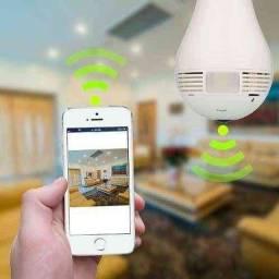Lâmpada Câmera Espiã Inteligente 360°