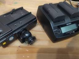 Led Video Light com bateria e carregador Sony F550 para DSLR