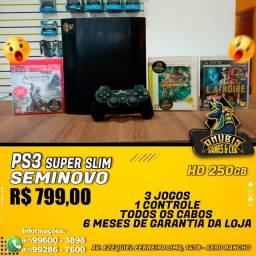 Anubis Games: PS3 super slim com 3 jogos a pronta entrega!!