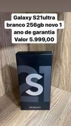 Samsung Galaxy S21 Ultra Branco 256GB LOJA FISICA