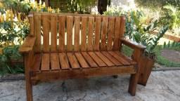 banco de madeira de paletes para varanda