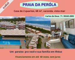 Oportunidade: Praia da Pérola, 2 Quartos, 01 suíte,  68 m², vista mar, em Ilhéus