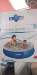 Piscina inflável 1000 litros (mil L)