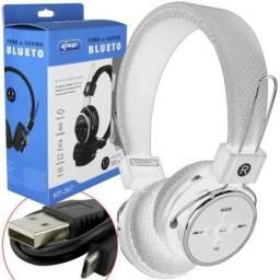 Fone Bluetooth/Rádio Fm/Cartão de memória (Lojas WiKi)
