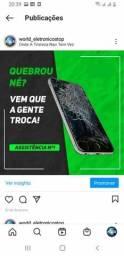 Troca de touch (display) assistência técnica especializada em celular