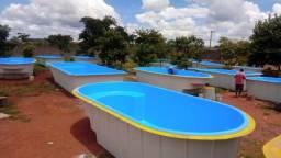 piscinas de fibra instalada vários tamanhos