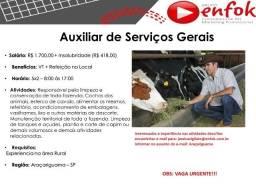 Serviços Gerais (Fazenda) - Araçariguama