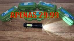 Mini Lanterna Tática Ultra Forte Recarregável USB com Foco!