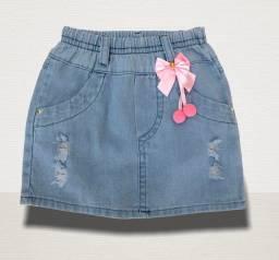 Saia jeans menina infantil