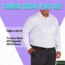 Camisa Social Premium Masculina Plus Size 6 ao 10