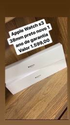 Apple Watch s3 38MM Preto LOJA FÍSICA