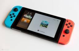 Nintendo Switch com 5 jogos + pro controller + case 2 meses de uso