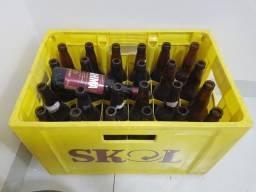 Engradado de garrafas de cervejas 600ml