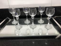 Taça para licor cristal Bohemia