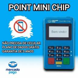 Máquina com Internet- Não precisa de Celular- Mercado Pago- Point Mini Chip.