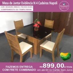 Mesa Evidencia N 4 Cadeiras 90x90