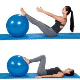 Fitness Kit Tapete Bola Ginastica Pilates Yoga Academia