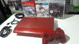 PlayStation 3 super slim modelo especial vermelho entrega e parcela até 12x