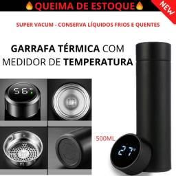 Garrafa Vacum com medidor de temperatura