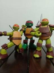 Trio de Tartarugas Ninjas Originais